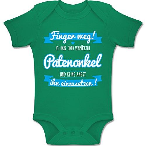Shirtracer Sprüche Baby - Ich Habe einen verrückten Patenonkel blau - 3-6 Monate - Grün - BZ10 - Baby Body Kurzarm Jungen Mädchen -