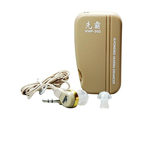 XYLUCKY Hörgeräte Achtung Ohrhörer Ohrhörer Verstärker mit 3 Ohrstöpseln, Reinigungsbürsten und Boxen - Lautstärkeregler Persönlicher Klangverstärker für linkes Ohr und rechtes Ohr