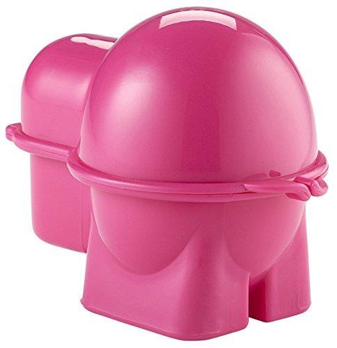 Hutzler Egg To-Go Container with Salt Shaker, Pink by Hutzler (Shaker Salt Pink)