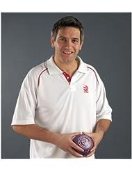Taylor Bowls Ace–Camiseta deportiva de señoras Unisex blanco rojo, small