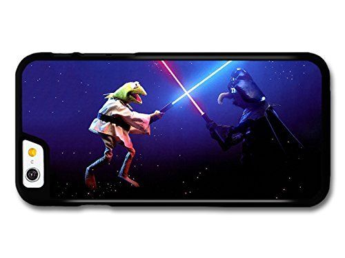 The Muppets Kermit Frog Fighting Against Gonzo like Star Wars hülle für iPhone 6