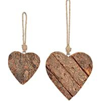 10 Stk Holzherzen 9cm Herzen aus Holz Dekoherzen Herzhänger Holzhänger 8 !!