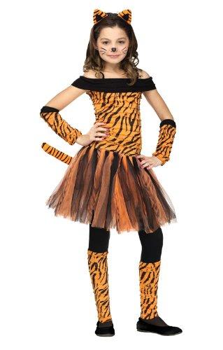 Tigerin Kinderkostüm - Miss Tigress Mädchenkostüm M