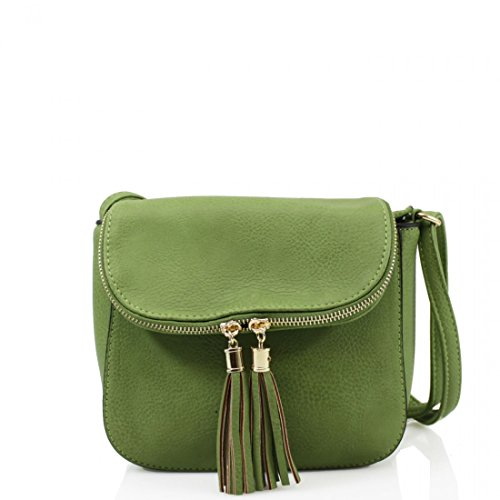 Elegant Fashions - Borsa a tracolla Bambina Donna Unisex �?Bimbi 0-24 Green