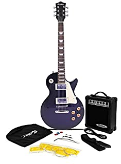 Rockburn LP2 Style Guitar Package with 10 W Amp - Blue (B0041D81DU) | Amazon price tracker / tracking, Amazon price history charts, Amazon price watches, Amazon price drop alerts
