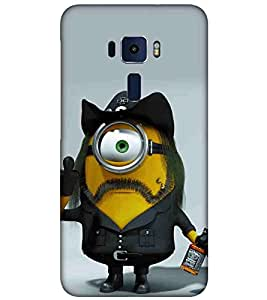 For Asus Zenfone 3 ZE520KL (5.2 Inches) Cartoon, Black, Cartoon and Animation, Printed Designer Back Case Cover By CHAPLOOS