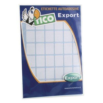 Tico 947908 - Pack de 10 hojas de etiquetas adhesivas, color blanco