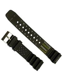 Correa de goma para reloj - Color negro - 20 mm