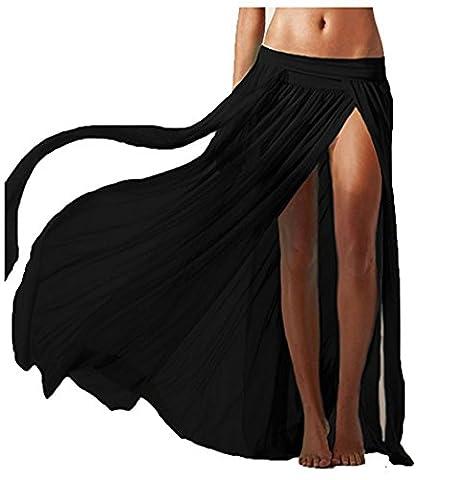 Lannorn Femme 5 Couleurs Sarong SexyJupe de Plage, Maxi Longue en Maiile Voile de Vintage Maillots de bain Plage bikini Couvrir Skirt.