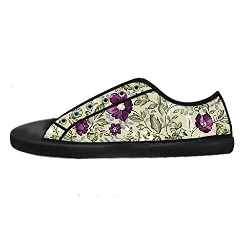 Dalliy Floral Flower Men's Canvas shoes Schuhe Lace-up High-top Sneakers Segeltuchschuhe Leinwand-Schuh-Turnschuhe D