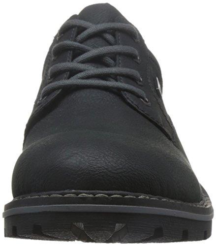 Rieker 14020-01 Schwarz Chaussures À Lacets Pour Hommes