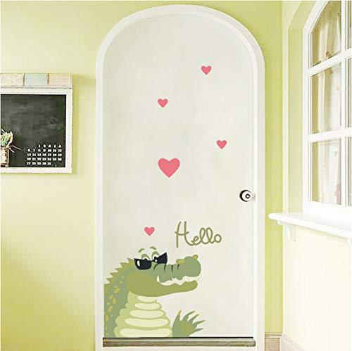 DEENLI Wandaufkleber Wasserdicht, Tapeten Für Tv-Hintergrund, Dekor Wandbild Art Decal Home Decor Krokodil Mit Sonnenbrille