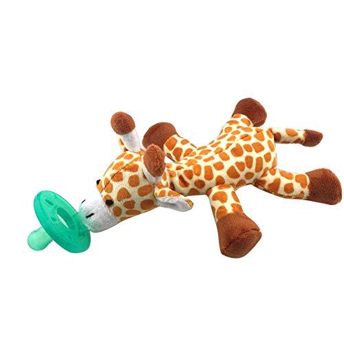 CFPacrobaticS Schöne baby nippel infant silikon schnuller mit cartoon tier plüsch puppe spielzeug Giraffe* (Hund Spielzeug Die Ausgestopften)