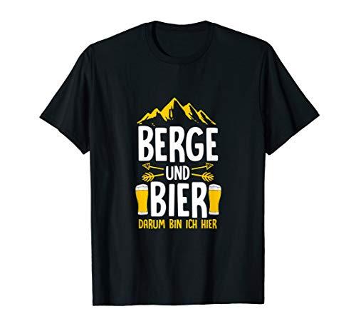 Kostüm Berg Mann - Berge und Bier T-Shirt Bergsteiger Bierkrug Wanderer Kostüm
