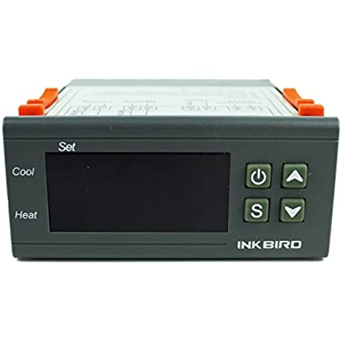Inkbird Control de Temperatura Controlador con Sensor Sonda 2 Relés Termostato ITC-1000 220V para Fabricación de Cerveza y Vino Fermentación