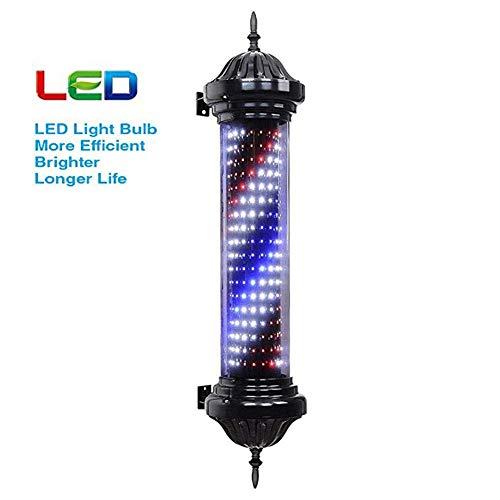 Exterior Barber Pole Light, rojo, azul, azul, rayas iluminadas, luz montada en la pared, peluquería, peluquería, letrero, lámpara a prueba de agua Ahorre energía