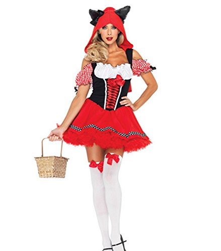Monissy Rotkäppchen Karikatur Schneewittchen Halloween-Kostüm Cosplay Kostüme (Erwachsenen Kostüme Disney Männlichen)