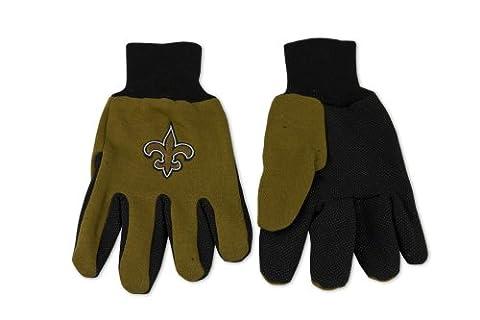 NFL New Orleans Saints Two-Tone Gloves, Gold/Black (New Orleans Saints Magnet)
