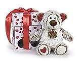 Famosa Softies Happy Valentine Orso di Peluche con Scatola Regalo, 32cm, Multicolore