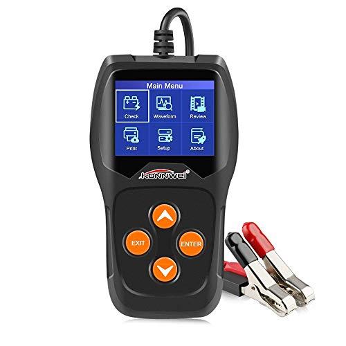 RUISI TM KONNWEI KW600 12V Professioneller Autobatterietester 100-2000 CCA 220 Ah Analysator und Generator Tester für Auto/Boot/Motorrad 12v Ac Gel Cell Batteries