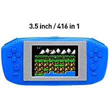 Image of 3.5 Inch Game Handheld LCD Screen Video Game Console Built-in 416 Retro Games Portable Game Console Appearance designed specifically for European(Blue) - Comparsion Tool