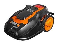 Idea Regalo - Worx WG757E Robot Rasaerba Senza Filo Ruote Motrici, 28 V, Arancione/Nero, 28v