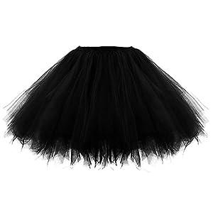 Facent Damen Mädchen Kinder Kurz Tutu Rock Tüllrock Tütü Crinoline Minirock Reifrock Unterrock Kleid Tüll Underskirt