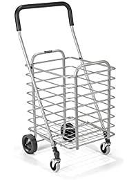 Lemish Personal Portable Aluminum Folding Shopping Cart Trolley With Wheel Deluxe Utility Cart