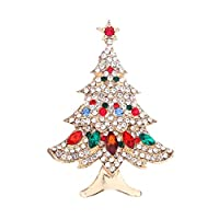 SIRIGOGO Christmas Tree Brooch Enamel Pin, Tree Badges Enamel Lapel Pin Cartoon Brooch for Women Backpack Pin with Gift Box for Clothing, Bags, Hats, Scarve