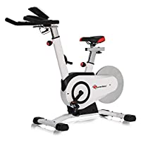 ‏‪PowerMax Fitness Unisex Adult BS-160 Home Use Group Bike - Red/White, Universal‬‏
