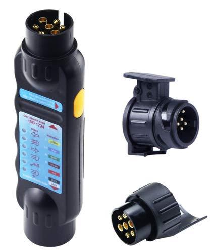 13 Pin Auto Anhänger Abschlepp Kit Licht Verkabelung Adapter Stromkreis Tester Stecker, Schraubkontakt mit Zugentlastung