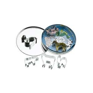 Kitchen Craft 7-Farm Animal Cutters With Metal Storage Tin