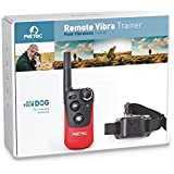[Gesponsert]PetTec Remote Vibra Trainer Erziehungshalsband Antibell mit Fernbedienung für Tonsignal oder Vibration; 250m Reichweite
