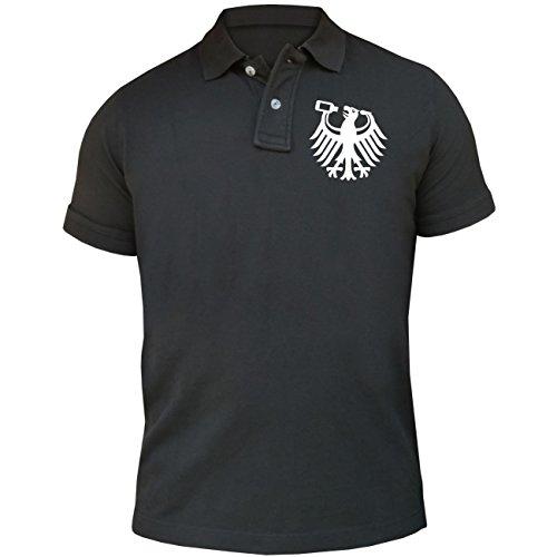 Männer und Herren POLO Shirt Seine Exzellenz DER GETRÄNKEHÄNDLER (mit Rückendruck) Aschgrau