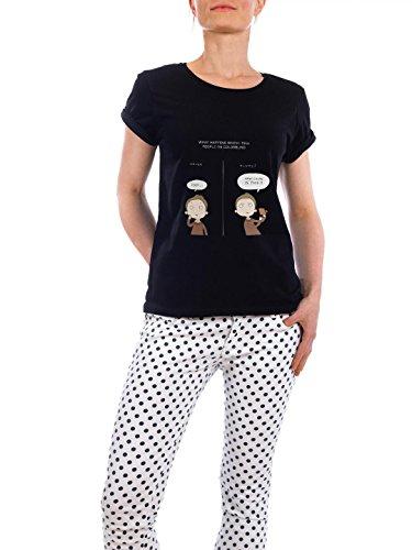 "Design T-Shirt Frauen Earth Positive ""colorblind"" - stylisches Shirt Kindermotive Comic von Lingvistov Schwarz"