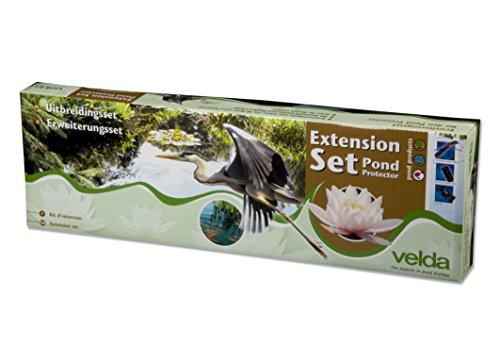 Velda 128025 Erweiterungsset für Teichschutz, Schwachstromzaun gegen Reiher und Katzen 1,1 Watt, Pond Protector Extension Set