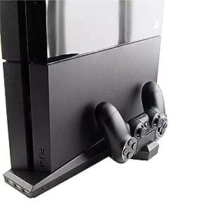 OSTENT 7 in 1 Ladegerät Lüfter Kühler Stand Dock Erweitern USB Hub Kompatibel für Sony PS4 Konsole