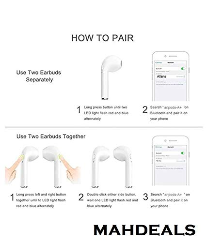 Mahdeals Level I Headphone Stereo Sound Bluetooth Wireless Universal for All Devices - Pop up Window Pairing-(White) Image 3