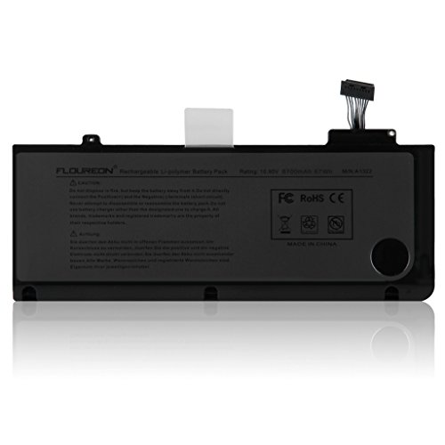 FLOUREON Reemplazo Repalcement Batería para Apple A1322 MacBook Pro 13 '' A1278 (Versión 2009-2012), para MB990 / A MB990LL / A MB990J / A - Garantía de 18 Meses [Cobaltate-Li-Polymer 6100mAh / 67Wh]