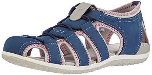 Geox D SANDAL VEGA B, Low-Top Sneaker donna Blu (Blau (NAVY/LT GREYC0832))