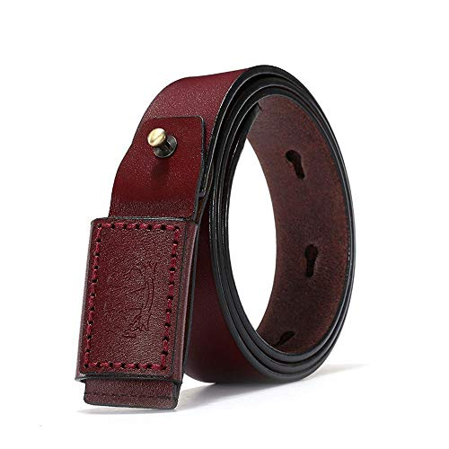 ChengHui Herren Business-Gürtel Antik Jeans Gürtel Jugend Chao Mikrofaser Pin Buckle Belt Gürtel (Antik Denim Jeans)