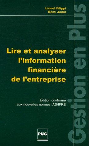 Lire et analyser l'information financière de l'entreprise