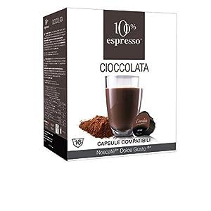 100% Espresso Capsule Compatibili Dolce Gusto Cioccolato 80 capsule