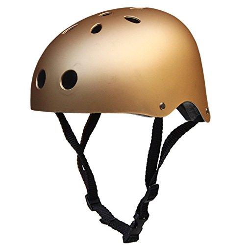 Yiwa Klettern Sicherheit Helm Mountain Bike Helm Sport Zubehör Stark Road MTB Fahrrad Helm, Frosted Gold, L (57-65cm)