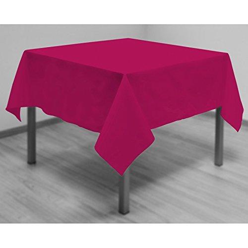 Soleil d'ocre Nappe Anti-tâches carrée 180x180 cm Alix Framboise, Polyester, Rose, 180 X 180 cm