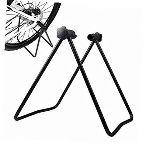 Hunpta Vélo Roue de vélo Support Support de réparation de parking hub Béquille pliante de cyclisme, noir