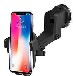 Supporto Auto Smartphone, Culla Regolabile per Cruscotto Dashboard Parabrezza, Porta Cellulare con Forte Sticky Gel Pad per iPhone,Samsung,Sony, Huawei, Xiaomi - InnoMagi