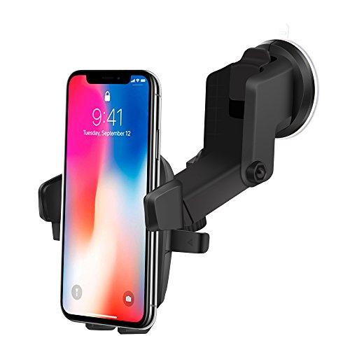 Handyhalterung Auto KFZ Saugnapf Halterung,360 Grad Drehbar Auto Halterung Armaturenbrett Windscheibe mit Haftsauger für iPhone X/8/8plus/7 Samsung S8 Note 8 mit einer Breite von 55 mm-90 mm-InnoMagi