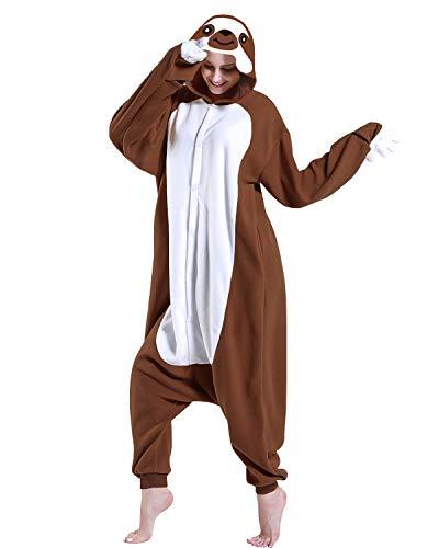 er Pyjama Unisex Sloth Cosplay Kostüme Brown ()