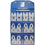 """accusize–26Pcs galgas de espesores (Set (0,010""""-0,500Calibres con soporte, # EG02–5025"""
